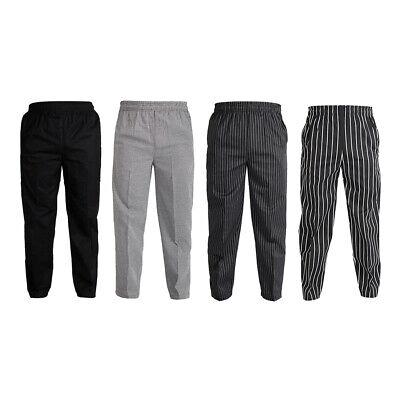 Unisex Chef Work Pants Baggy Trousers Slacks Restaurant Staff Uniform Accs