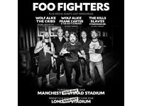 1x ticket Foo Fighters, Friday 22 June 2018 @ Olympic Park - Seated, block 202
