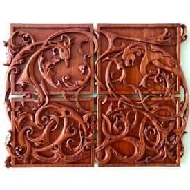 Custom Carved Gun Stock | Wooden Carved Art Panels | Custom Carved House Signs | Woodcarving