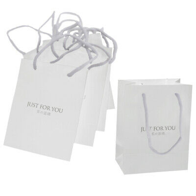 Grey Small Paper Gift Bag Kraft Paper Bag Jewelry Pouch Thickened 5 Pcs