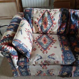 Two Kilim pattern sofas for sale