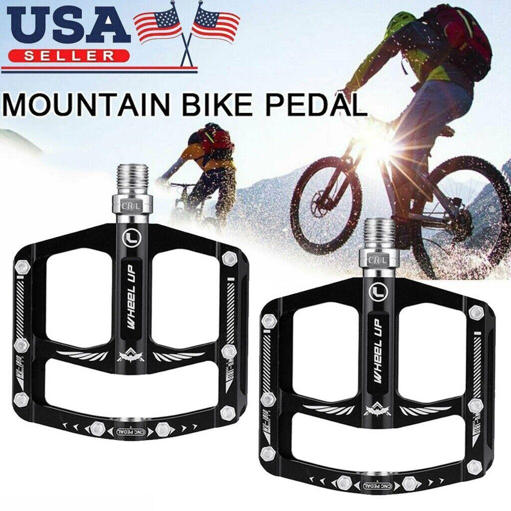 "2 Pcs BMX MTB Aluminium Alloy Mountain Bike Bicycle Cycling 9//16/"" Pedals Flat"