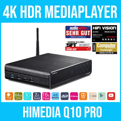 HIMEDIA™ Q10 PRO 4K (Ultra-HD) HDR & 3D Android Mediaplayer / Smart TV Box