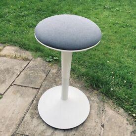 Ikea NILSERIK sit / stand stool, white & grey