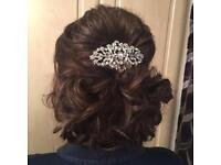 Wedding hair sparkle comb