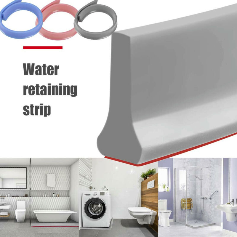 Collapsible Shower Threshold Water Dam Shower Barrier and Re
