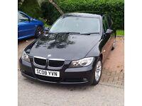 BMW 318d SE, 2008, Black, 4 Door Saloon, 1995cc, 61000 miles, Excellent Condition.