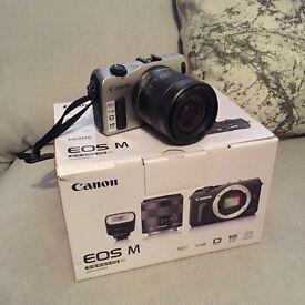 Canon eos m digital camera - boxed
