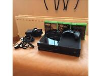 Black Xbox One 500GB with Xbox Headset and Games