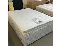 Dreams double divan bed (mattress and base) with 4 drawers