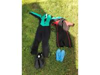 6-8 years old wetsuits, shoes, boots