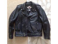 Harley Davidson leather jacket - Med / Large.