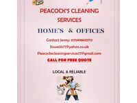 Peacocks cleaning services