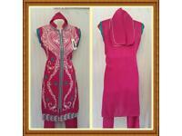 Girls Asian Shalwar Trouser Kameez Frock Dress