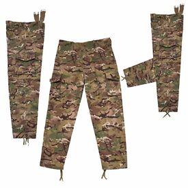 Kombat Kids Btp Camo Trousers Cargo Pants Army Style Clothing