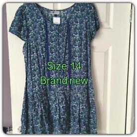 Blue floaty dress