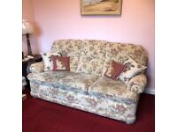 Three seater floral tapestry sofa settee couch