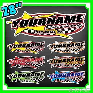Custom-Your-Name-Racing-Decals-Trailer-Truck-MX-ATV-Race-Car-Kart-Boat-Ski-IMCA