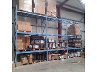 Used 3 Bay 3 Level Strong Metal Warehouse Pallet Racking