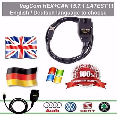 Vag-Com v 15.7.1 ✔ HEX+CAN diagnostic cable with soft ✔ German or English