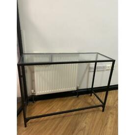IKEA glass table