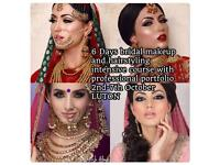6 Days bridal hairstyling and makeup course including portfolio