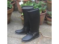 Massimo Dutti Wellington boots