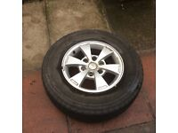 Mitsubishi wheels and tyres , 245/70 R16 , see photos They have been on a Mitsubishi Animal .