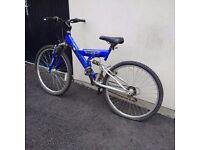Goldrush _ C. Tech Mountain Bike. Petrol Blue.