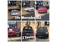 Mercedes GLS, 24v, Matt Black, Met Red, White,Parental Remote & Self Drive, 2 Seater Ride-On