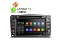 "Mercedes Benz 7"" Android Lollipop Car DVD Player USB AUX BT wifi Internet Screen Mirroring Function"