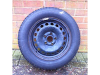 Steel rims with dunlop winter tyres for golf 2006 onward 15""