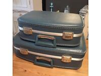 Two vintage suitcases in excellent condition