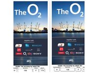 Justin Bieber / Beiber tickets x2 02 London block 106
