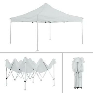 tectake- partytent 3x3 m. opvouwbaar - 4 wanden - wit 403153