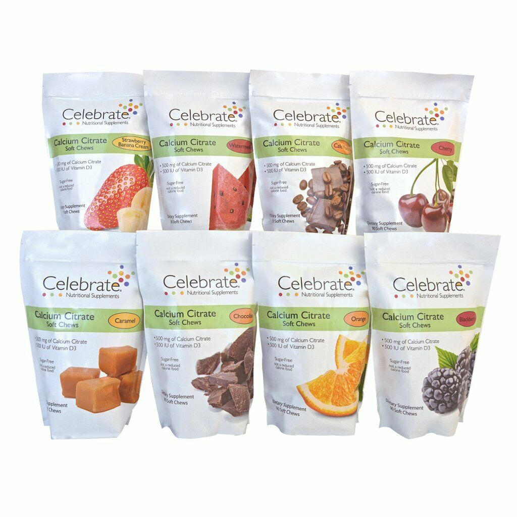 Celebrate Vitamins - Calcium Citrate Soft Chews - 8 Flavors!