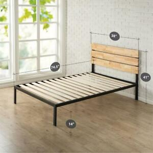 Zinus HBPBA-14T Sonoma Metal and Wood Black Twin Platform Bed Frame (New Other)