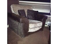 3 seater sofa & chair and cuddle chair