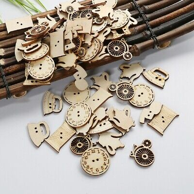 50Pcs WOODEN SMALL APPLIANCES SHAPES Gift Card Scrapbook DIY Embellishments