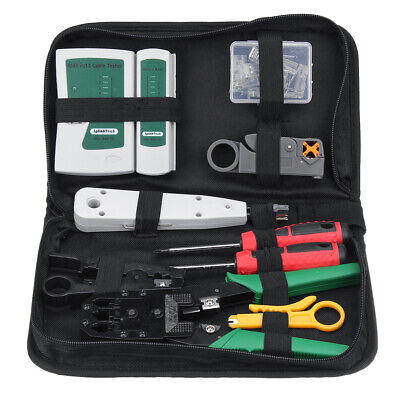 Network Tool Kit Ethernet Lan Cable Tester Crimper Repair Maintenance Tools