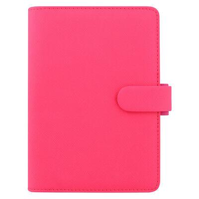 Filofax Saffiano Organizer - Personal - Fluoro Pink With Pen Loop - 028754 New