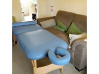 Supalite massage table, portable, very good used condition, very comfortable both to use and lie on.