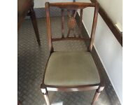 Lovely 6ft extending period dining table and 4 chairs. Can Deliver.