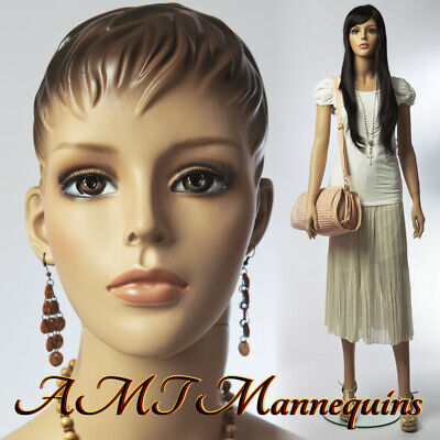 Female Mannequinmetal Base Hand Made Headfull Bodypainted Skin Manikin1wig