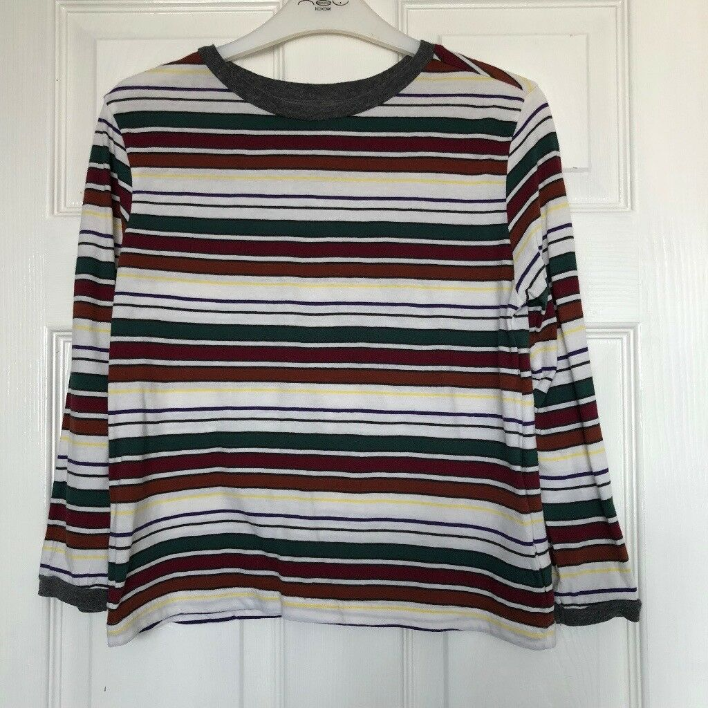 0d94786464 Urban Outfitters Multi 3 4 Sleeved Striped T-shirt. Size S
