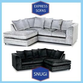 🕶️New 2 Seater £169 3S £195 3+2 £295 Corner Sofa £295-Crushed Velvet Jumbo Cord Brand 🡀T0