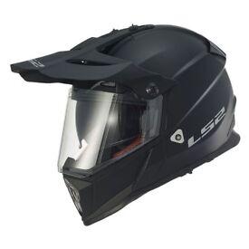 LS2 Pioneer MX436 Solid Matt Black or Solid White Helmet