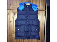 black & blue mckenzie body warmer M