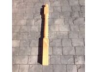 Colonial decking post