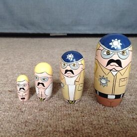 Novelty / hen do, 4 part Russian doll of policeman, smallest one is naked